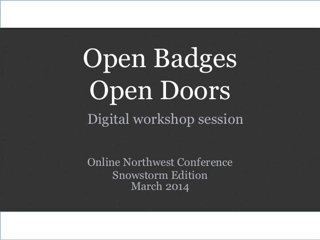 Open Badges Open Doors - Digital Workshop