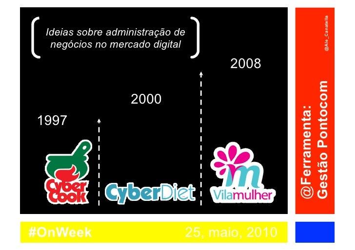 @Ale_Canatella  Ideias sobre administração de   negócios no mercado digital                                    2008       ...