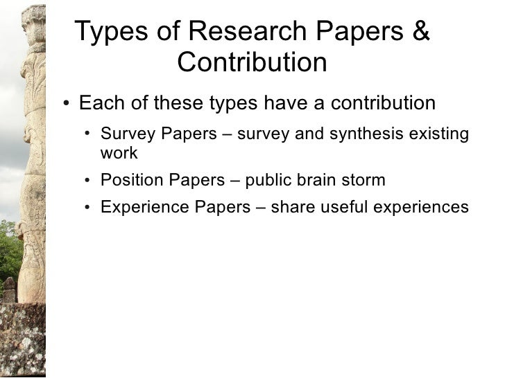 Types of research paper formats