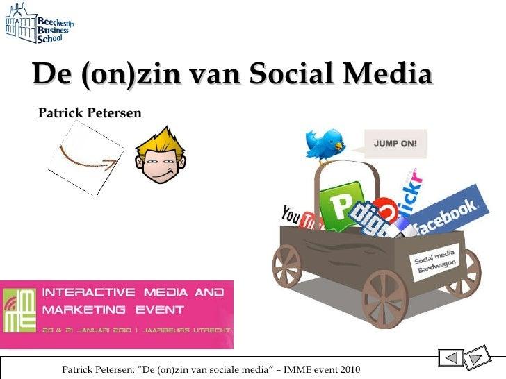 De (on)zin van Social Media   Patrick Petersen