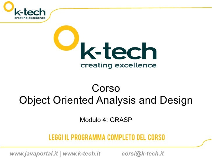 Corso Object Oriented Analysis and Design