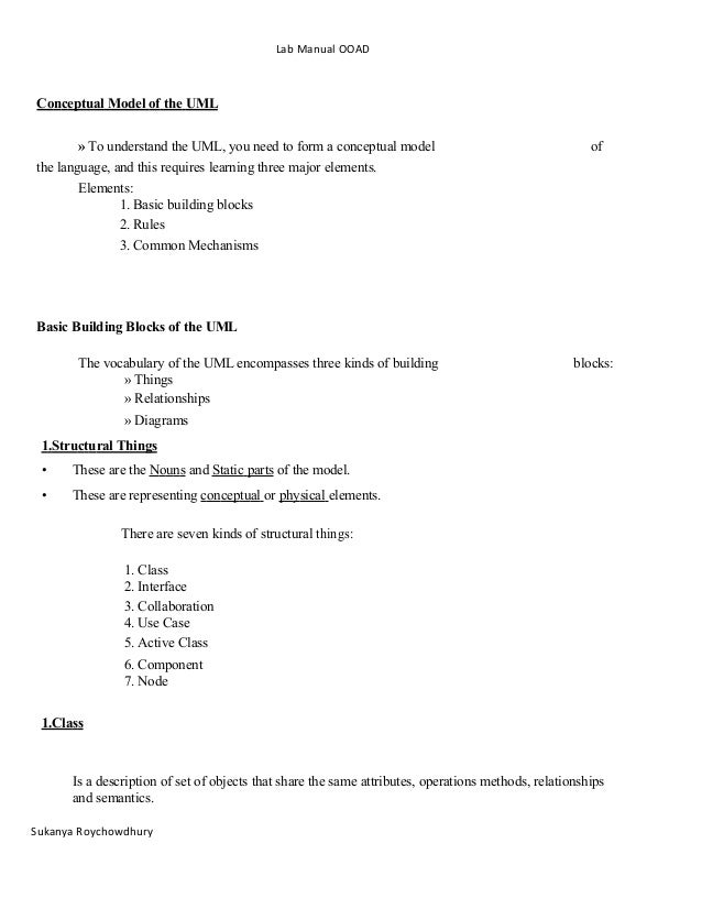 ooad lab manual This blog is mainly for lab manuals for all engineering colleges students affiliated with anna univeristy.