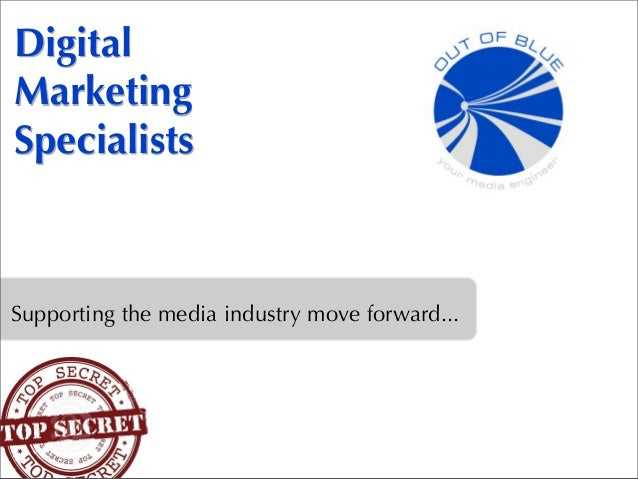Digital Marketing Specialists Supporting the media industry move forward...