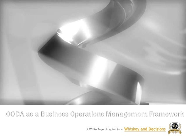OODA as a Business Operations Management Framework A White Paper Adapted from  Whiskey and Decisions
