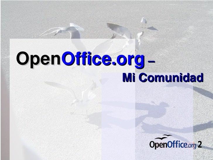 Open Office.org   –  Mi Comunidad