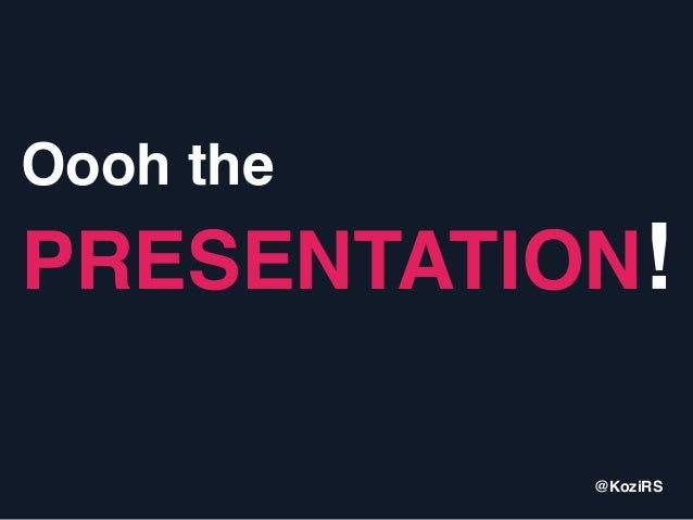 Oooh the PRESENTATION! by @KoziRS