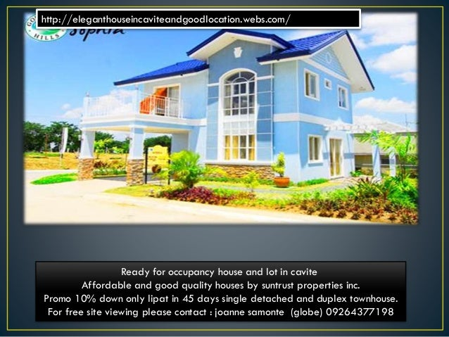 Ready for occupancy brand new house and lot for sale in cavite