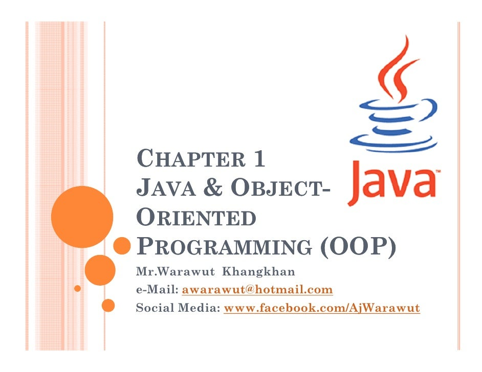 Object-Oriented Programming 1