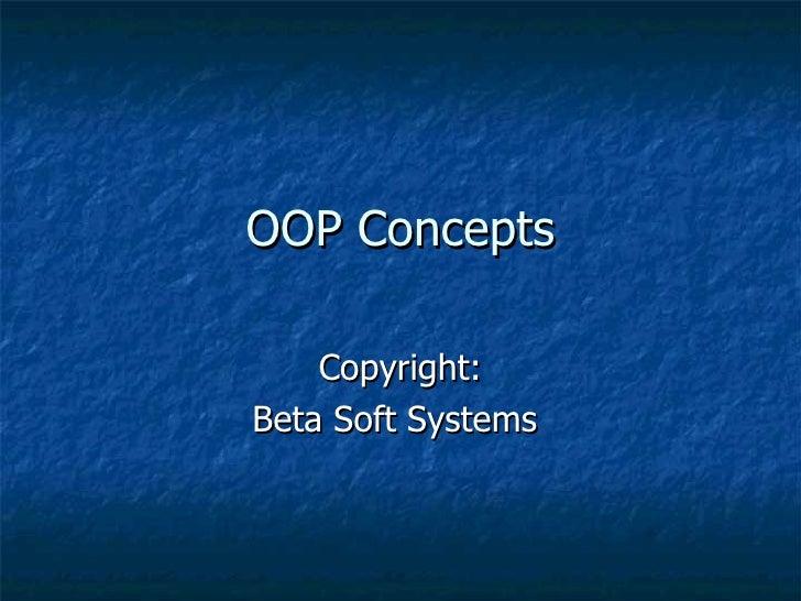 Oop concepts