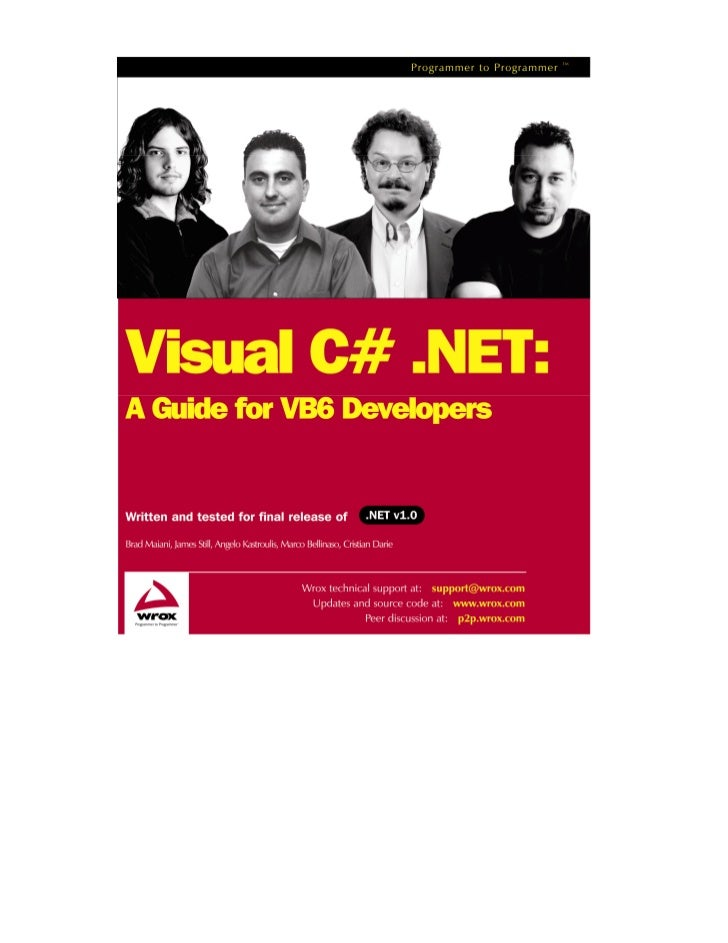 What you need to use this book   This books assumes that you have either:      ❑    Visual Studio .NET (Professional or hi...