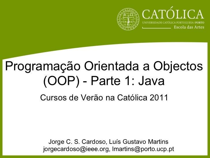 Introdução à programação em Android e iOS - OOP Java