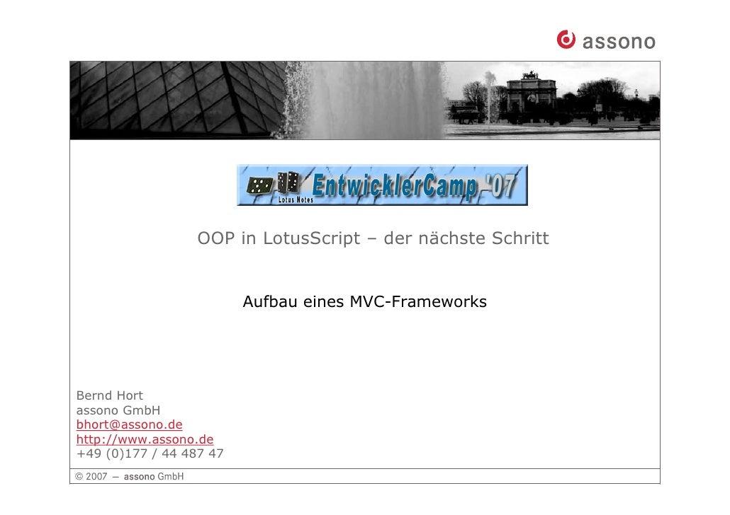 Oop LotusScript