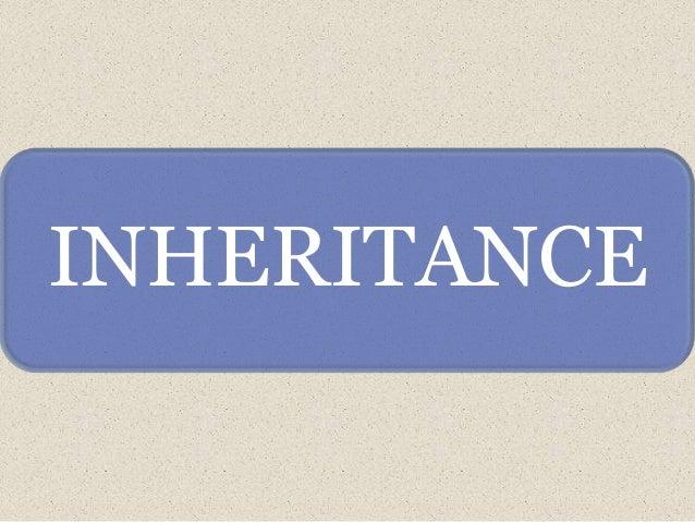 INHERITANCE(OOP's CONCEPT)