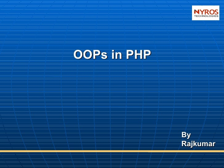 Oops in PHP By Nyros Developer