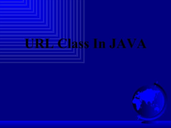 URL Class In JAVA