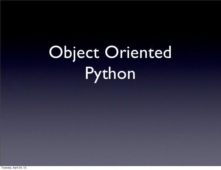 Oo python