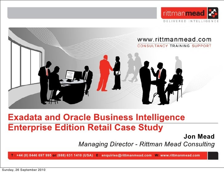 Exadata and Oracle Business Intelligence   Enterprise Edition Retail Case Study                                           ...