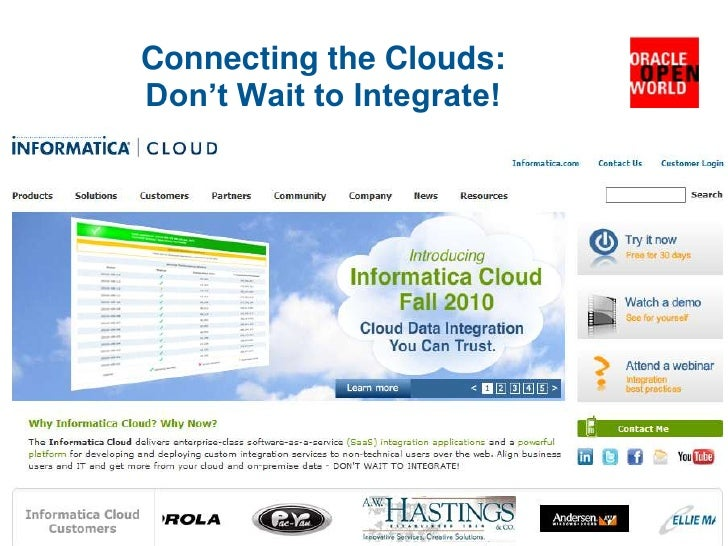 Connecting the Clouds: Don't Wait to Integrate!<br />