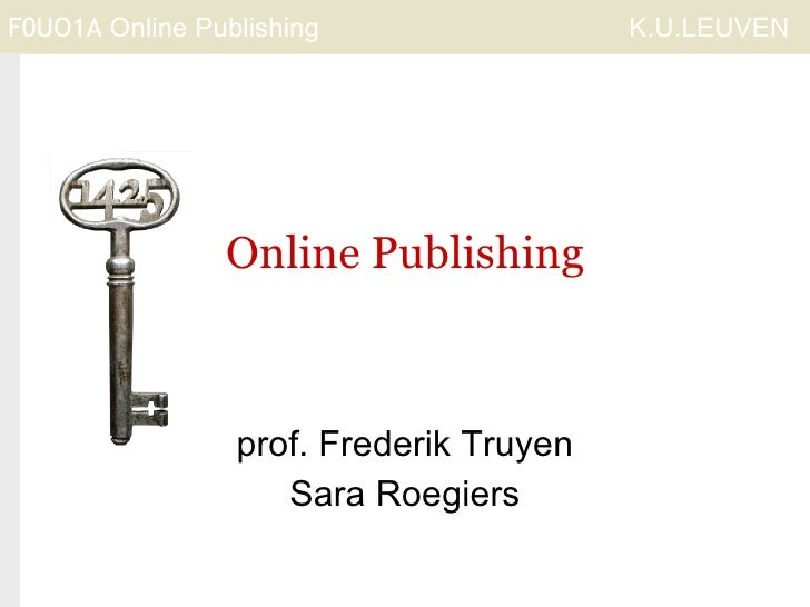Introduction for Course Online Publishing