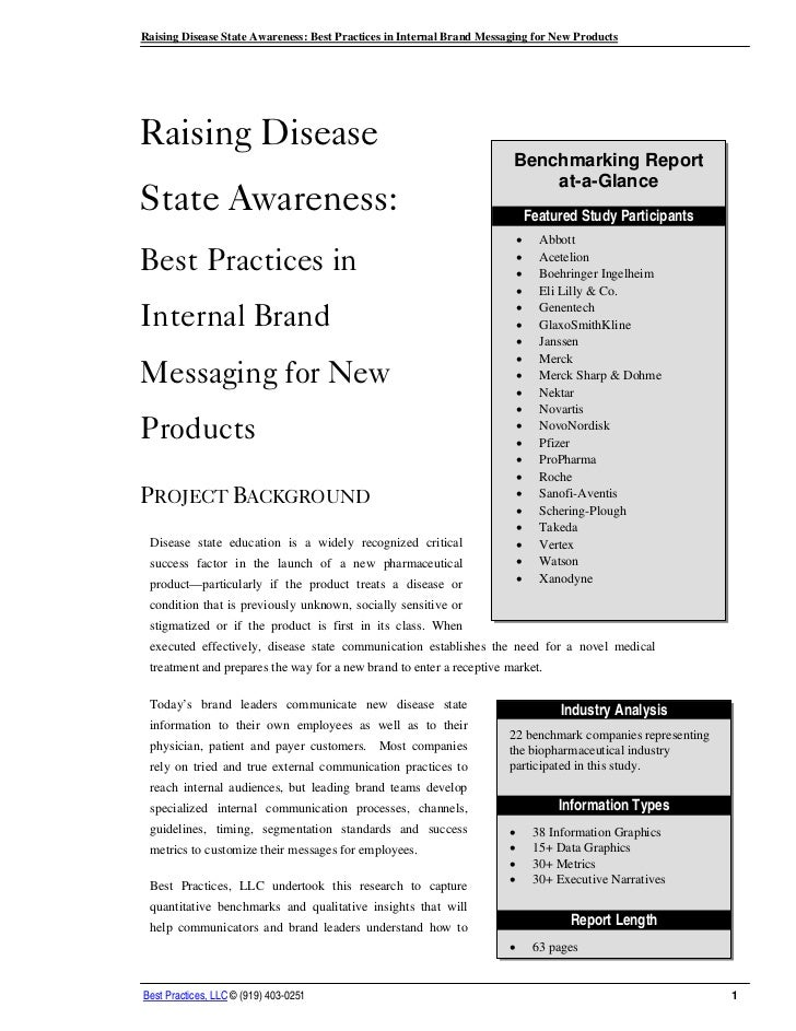 Raising Disease State Awareness: Best Practices in Internal Brand Messaging for New ProductsRaising Disease               ...