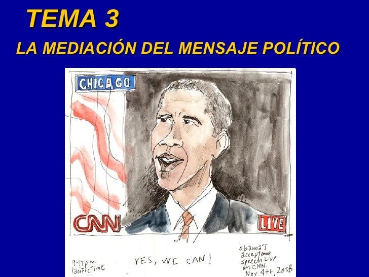 TEMA 3 LA MEDIACIÓN DEL MENSAJE POLÍTICO