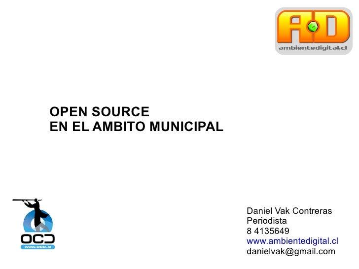 Open Source en los municipios