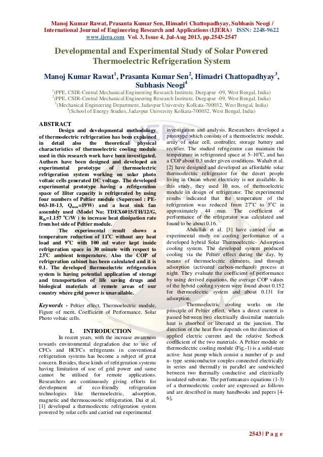 Manoj Kumar Rawat, Prasanta Kumar Sen, Himadri Chattopadhyay, Subhasis Neogi / International Journal of Engineering Resear...
