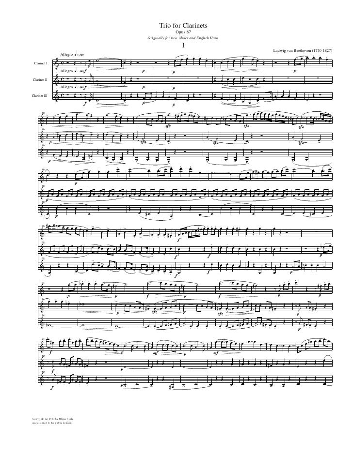 Trio for Clarinets                                                                                   Opus 87              ...