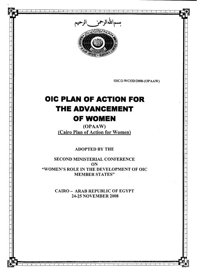 OIC Plan of Action for Advancement of Women 2010_english