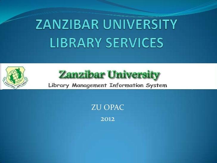 ZU OPAC  2012