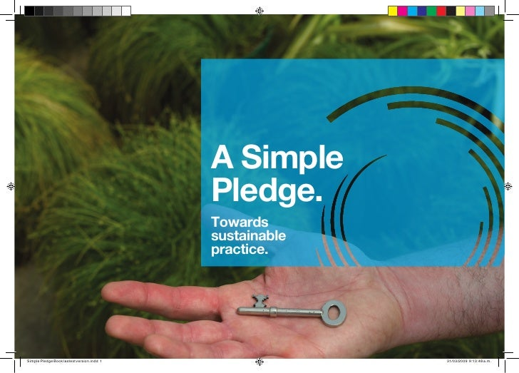 A Simple Pledge: towards ssustainable practice