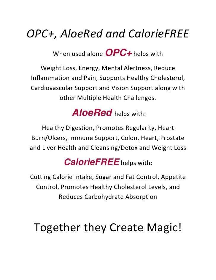 OPC & Aloe Red Benefits