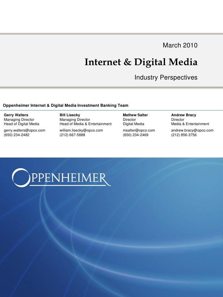 March 2010                                          Internet & Digital Media                                              ...