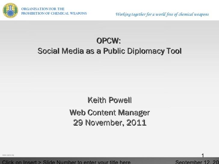 Social Media as a Public Diplomacy Tool
