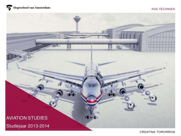 AVIATION STUDIES  2012-2013Studiejaar 2013-2014