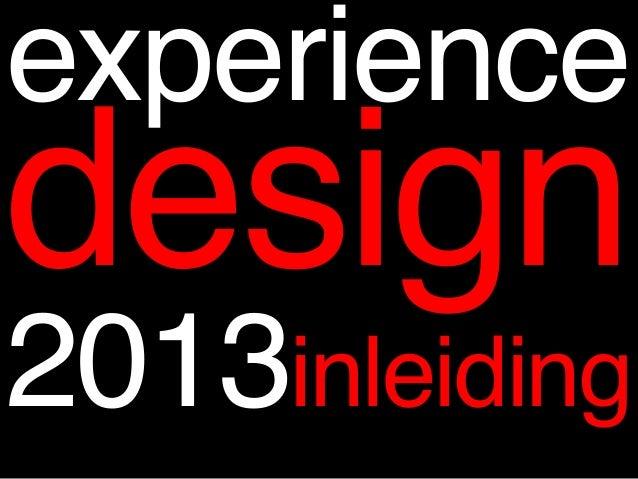 Opdrachtenexperiencedesignboek2013