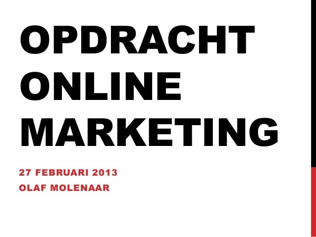 Opdracht online marketing FSM