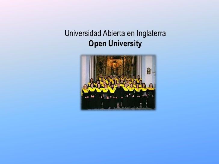 Universidad Abierta en InglaterraOpen University<br />