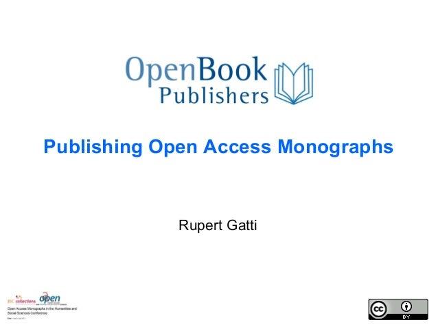 Open Book Publishers, Rupert Gatti