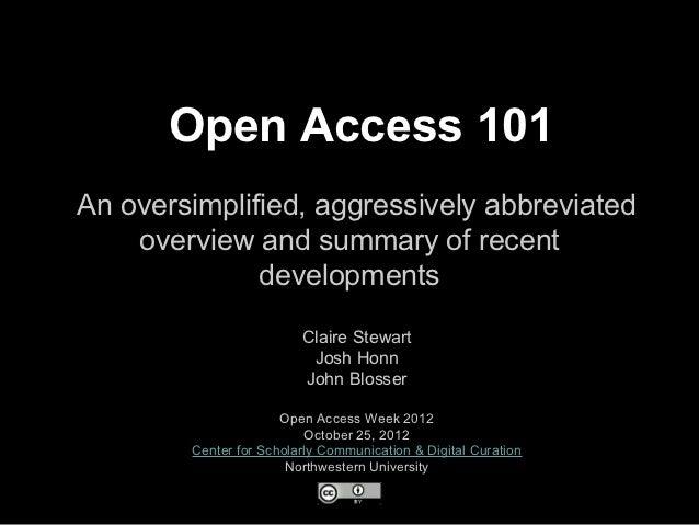 Open Access 101