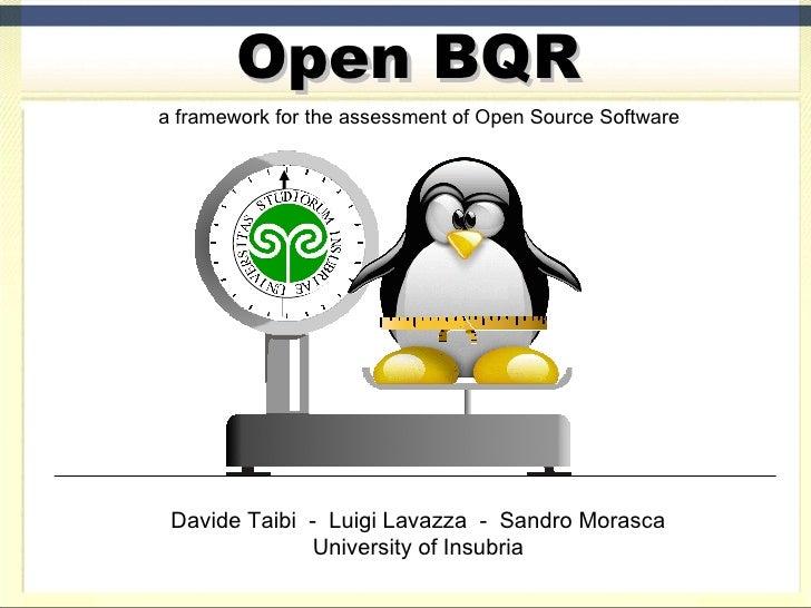 Open Bqr an Open Framework for the assessment of Open Source Software