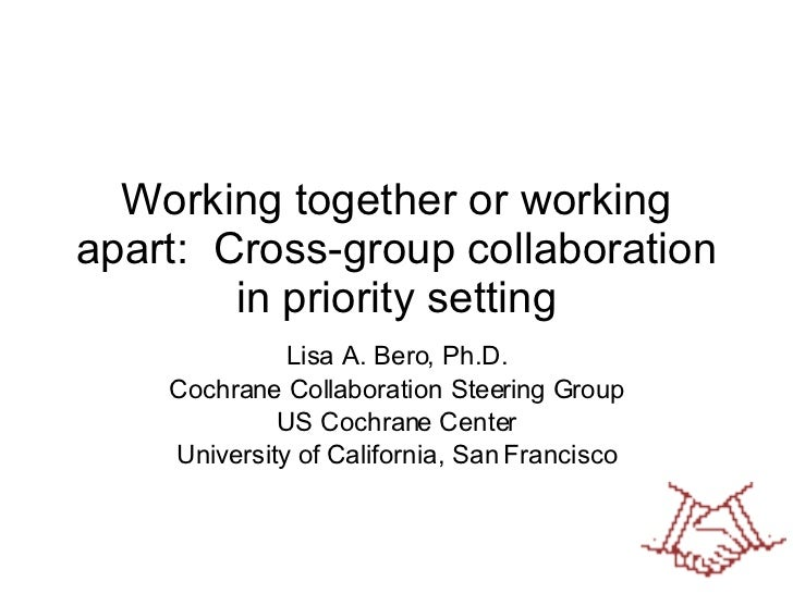 Open Discussion: Working together or working apart: Cross-group cooperation in priority setting