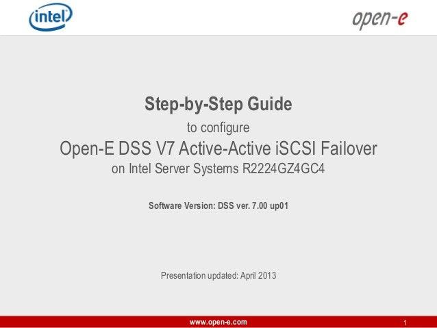 Open-E DSS V7 Active-Passive iSCSI Failover on Intel Server Systems