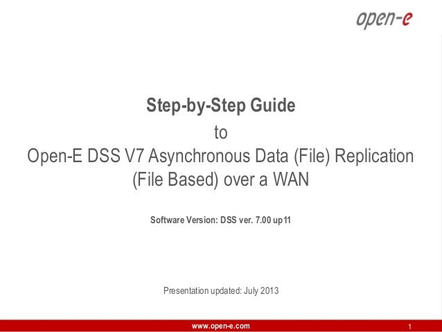 Step-by-Step Guide to Open-E DSS V7 Asynchronous Data (File) Replication (File Based) over a WAN Software Version: DSS ver...