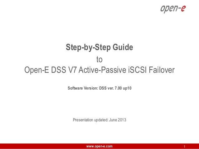 Open-E DSS V7 Active-Passive iSCSI Failover