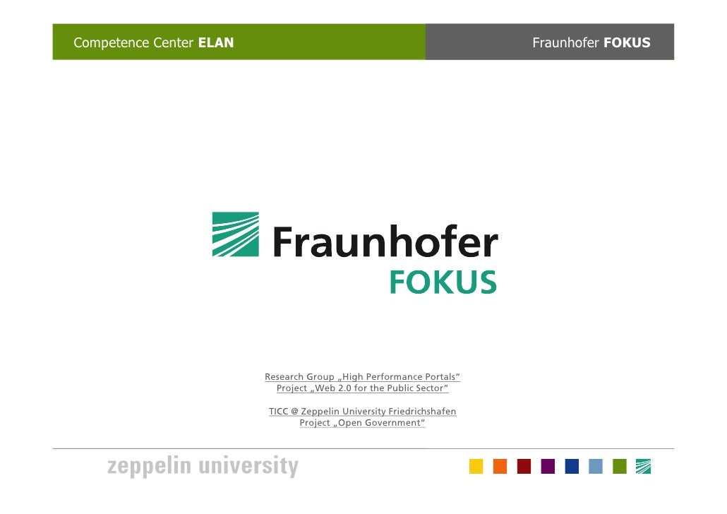 Competence Center ELAN                                                Fraunhofer FOKUS                         Research Gr...