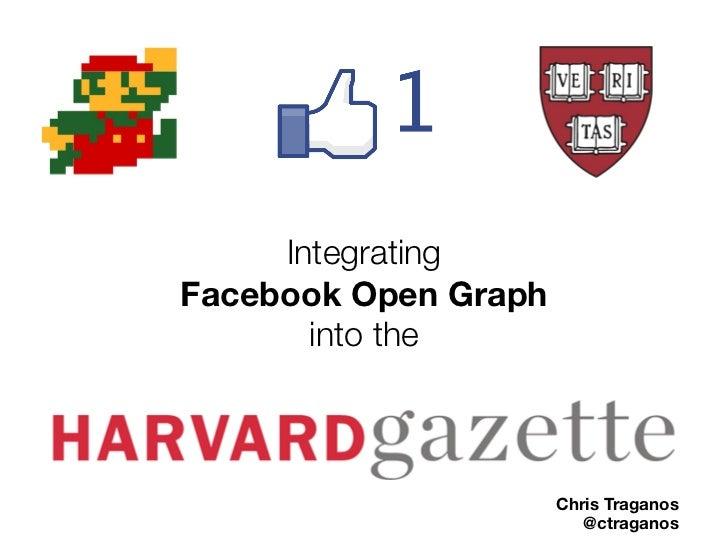 IntegratingFacebook Open Graph       into the                      Chris Traganos                         @ctraganos