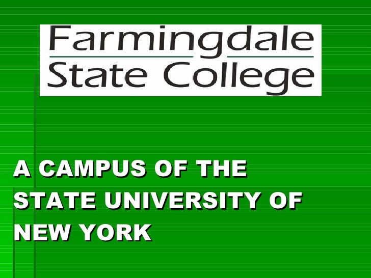 A CAMPUS OF THE  STATE UNIVERSITY OF NEW YORK