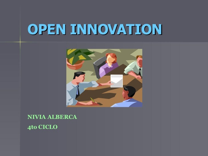 OPEN INNOVATION   NIVIA ALBERCA 4to CICLO