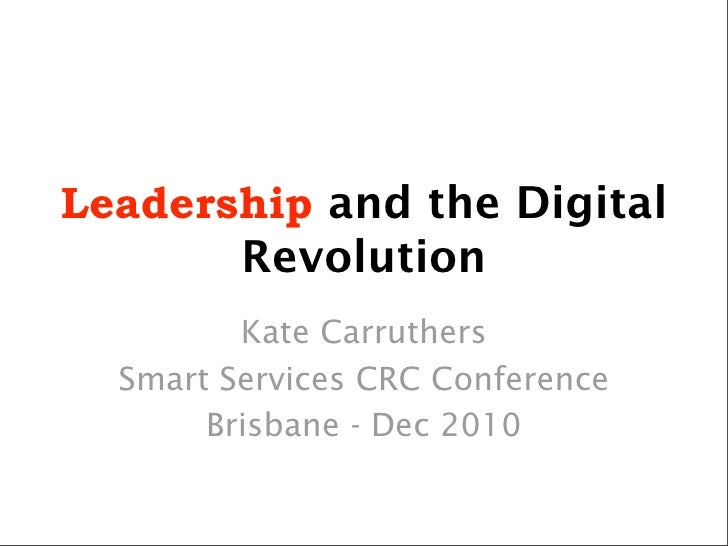 Leadership and the Digital Revolution